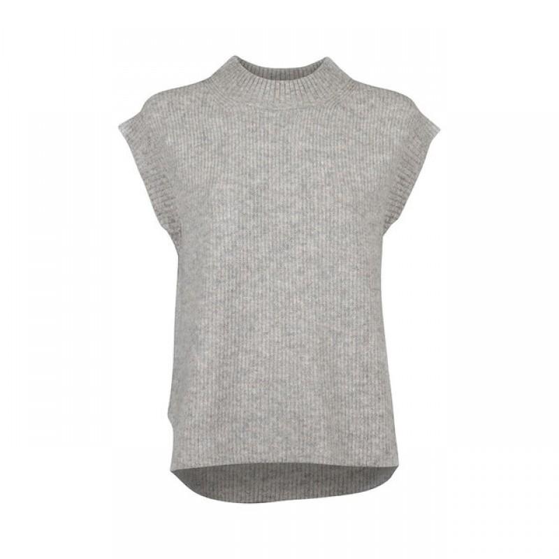 Jola N Knit Waistcoat - 193 Oyster Melange