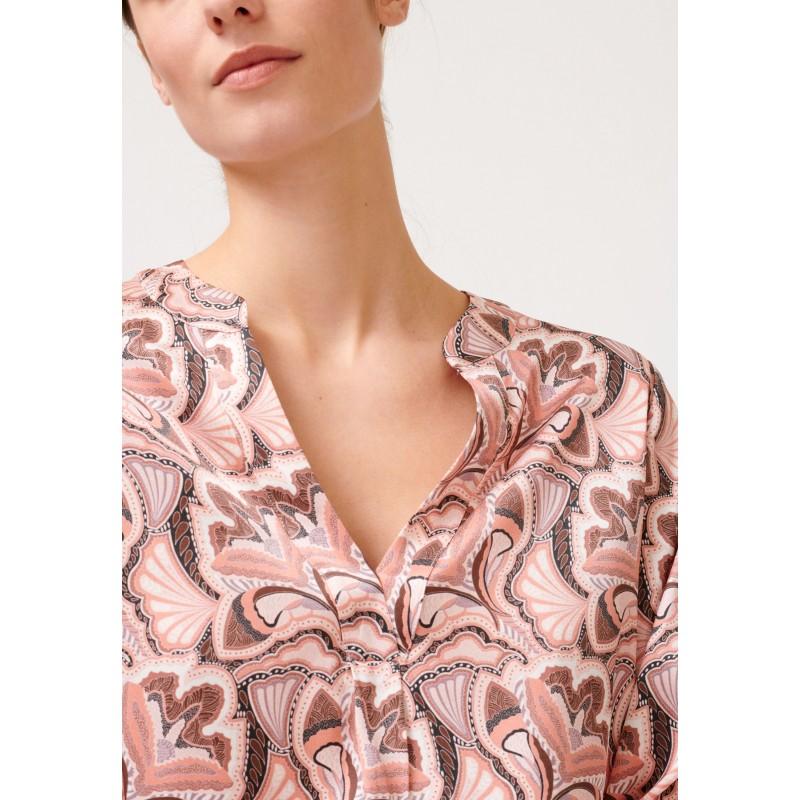 SANTENA Shirt - Trellis Coral Dea Kudibal