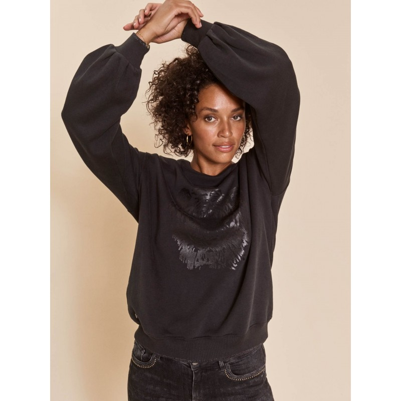 Zanna Tiger Sweatshirt Black - MOS MOSH