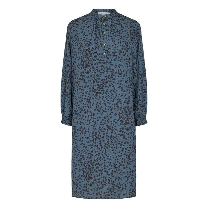 Spot Shirt dress New blue