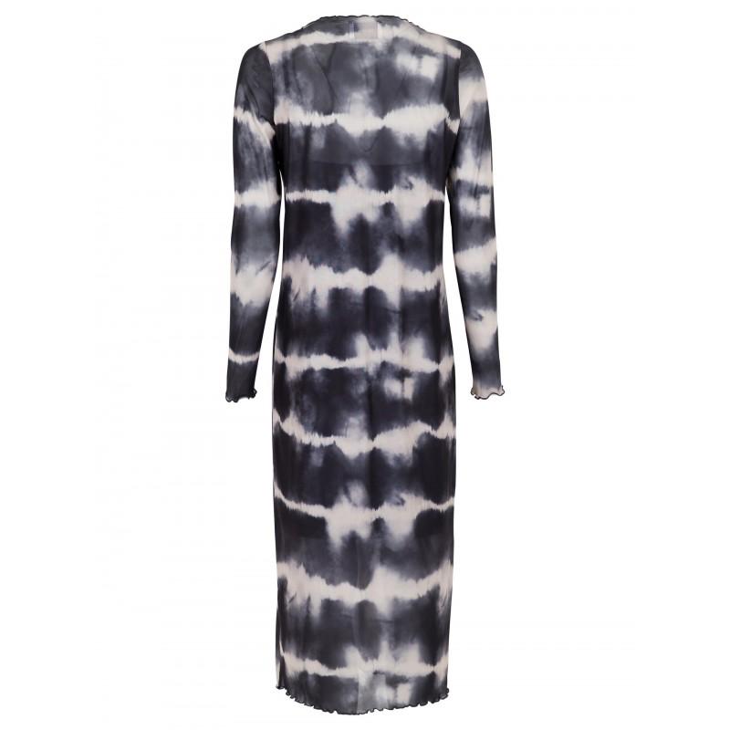 Perrina Tie Dye Mesh Dress - Neo Noir