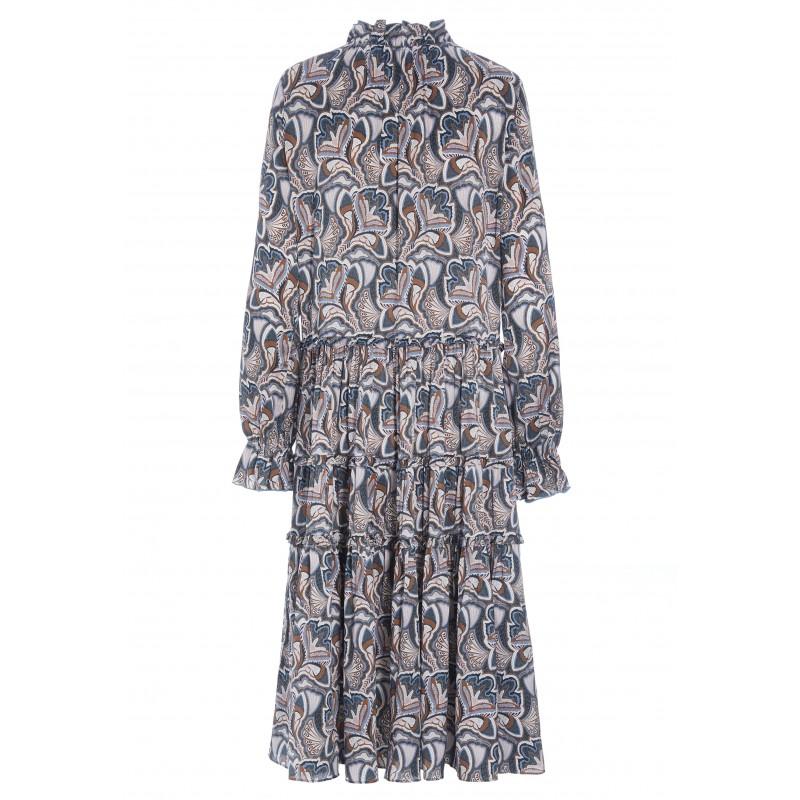 VIOLA Maxi Dress - Trellis Blue