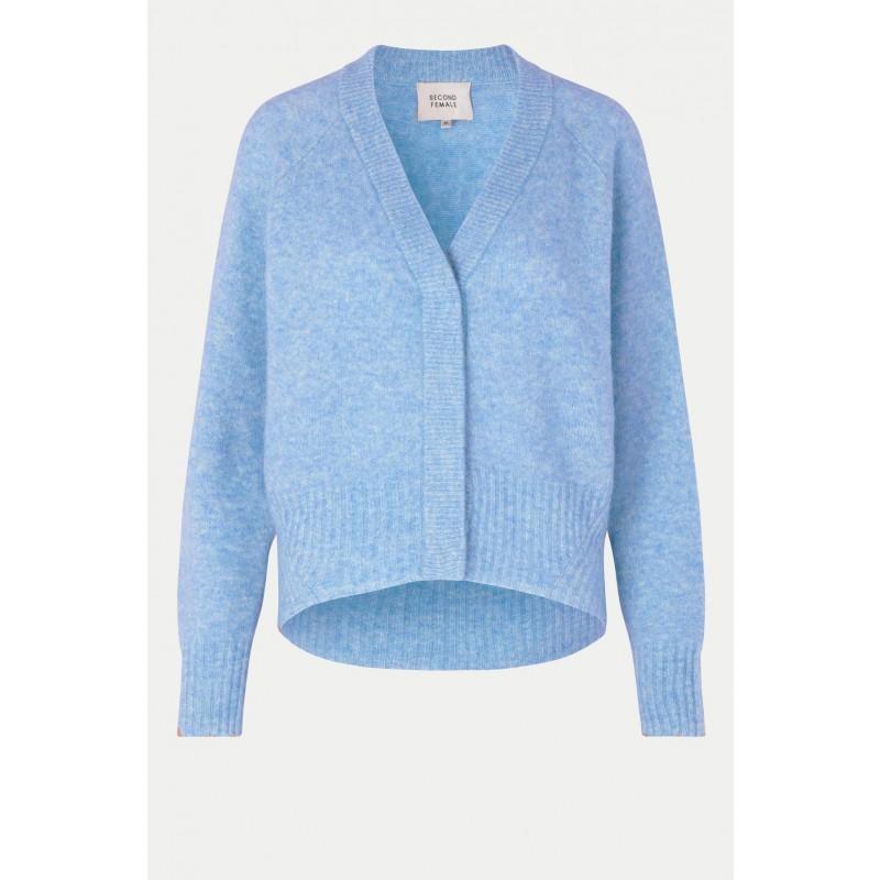 Brook Knit Boxy cardigan-blue