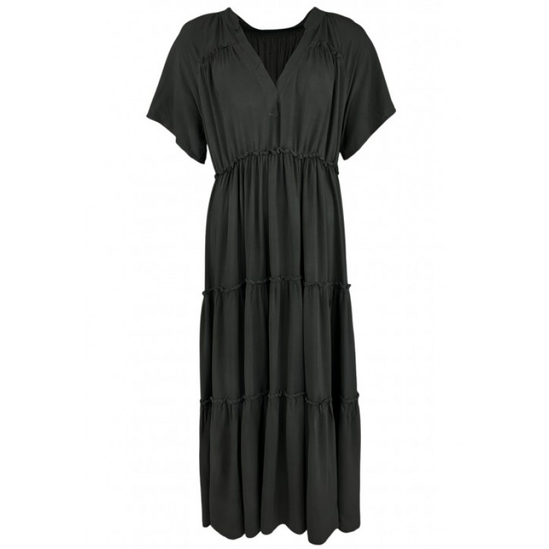 ADA s/s Maxi Boho Dress - Black