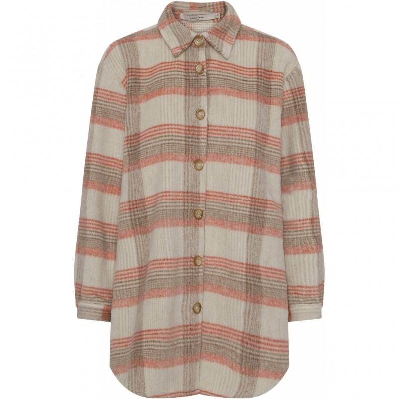 Check shirt/jacket - Sand rosa