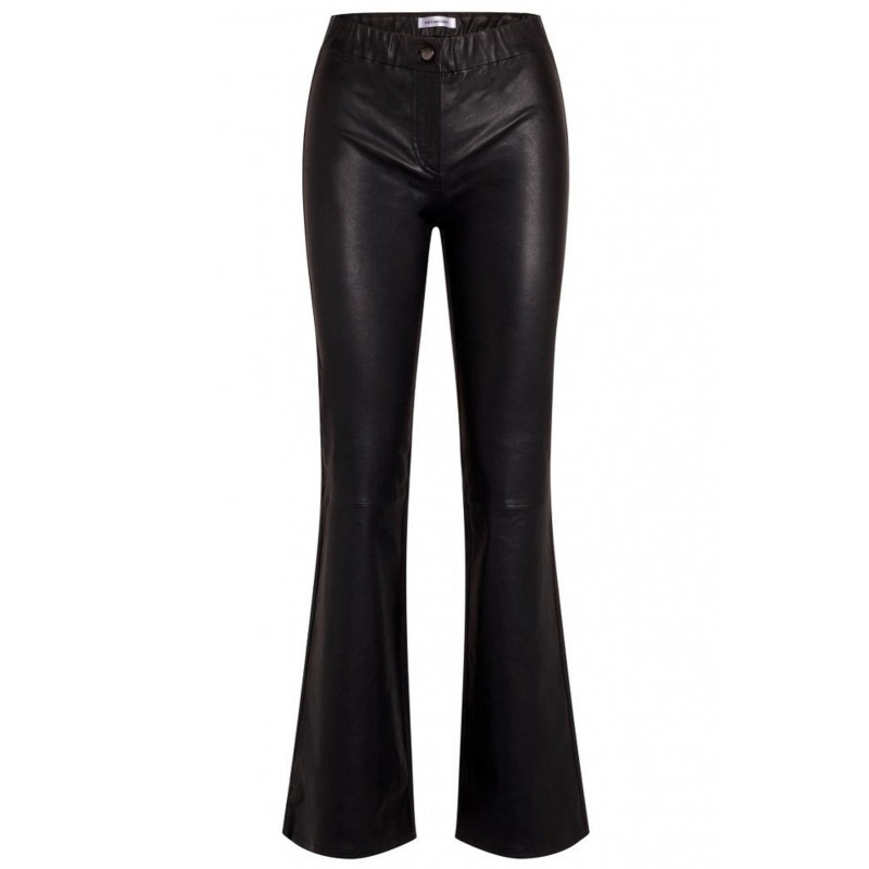 Leon Leather Flare Pant - Co'Couture - Black