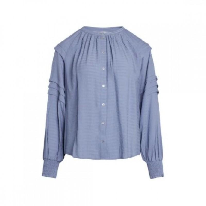Cora Pleat Shirt Sky Blue
