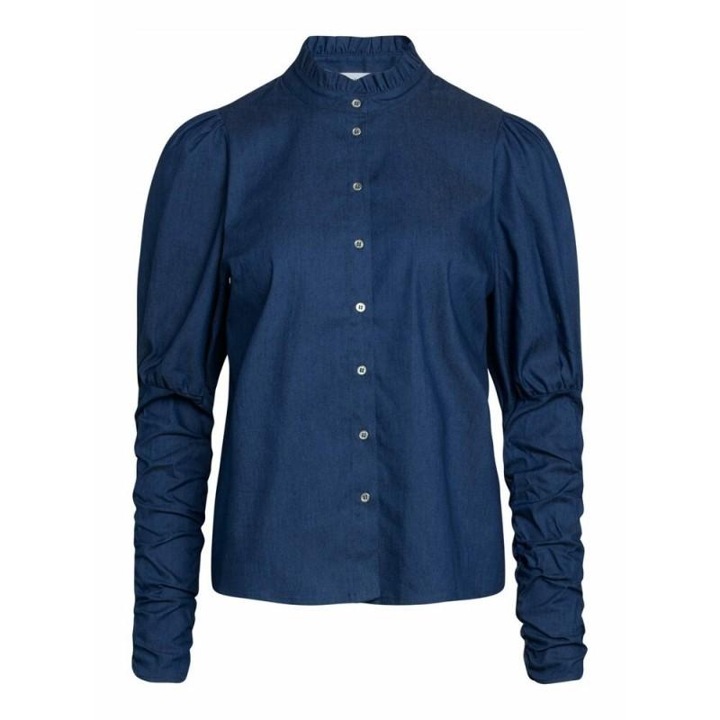Sandy Denim Puff Shirt - Denim Blue