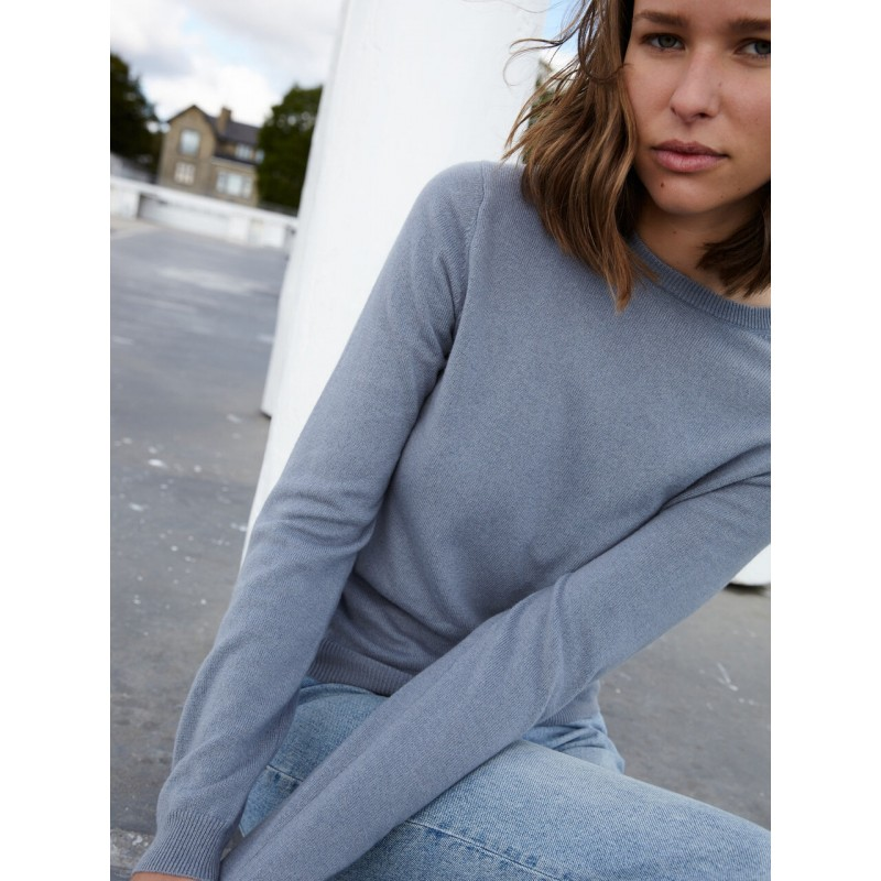 Womens Roundneck - Oyster - Peoples Republic of cashmere
