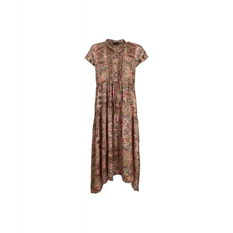 LUNA MAE DRESS ROSE IVORY Black colour
