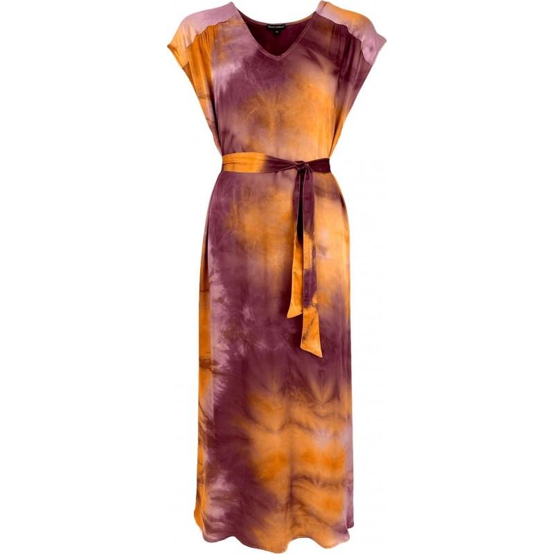 Dakota SS Satin Dress - Ruby