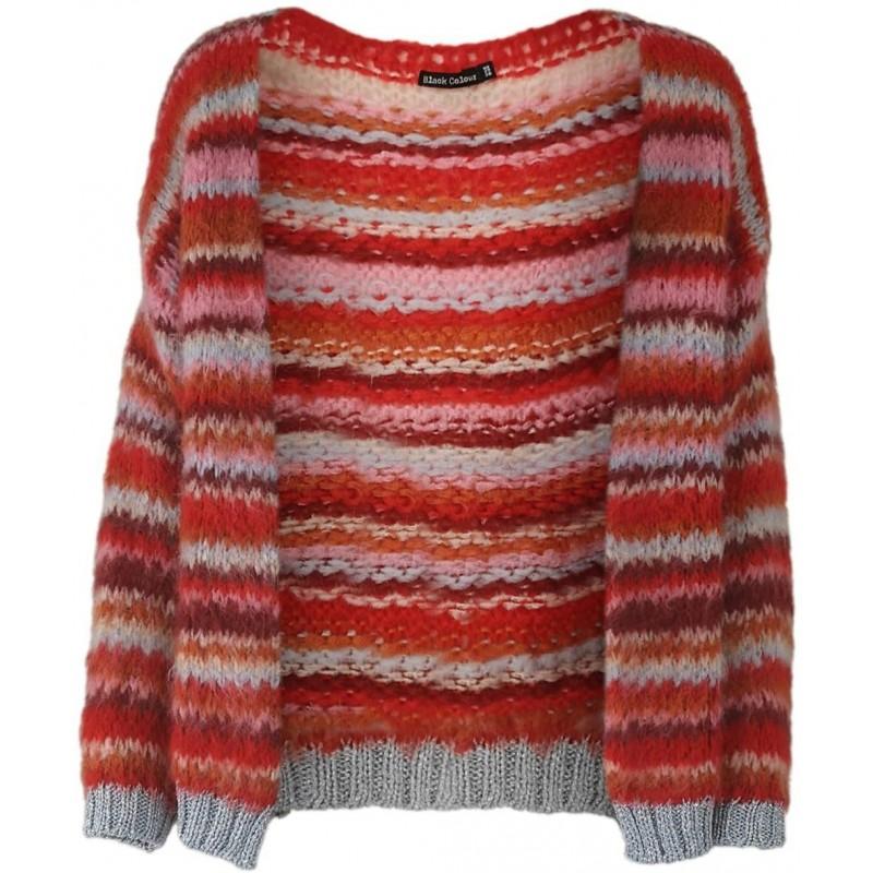 TUULA soft brushed striped cardigan