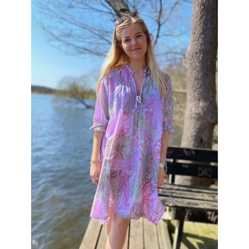 San Miguel Audrey Lilac Dress
