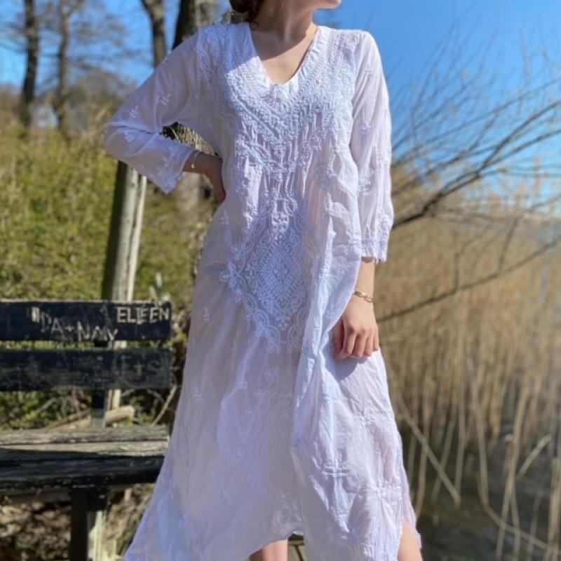 Long Goa White Dress