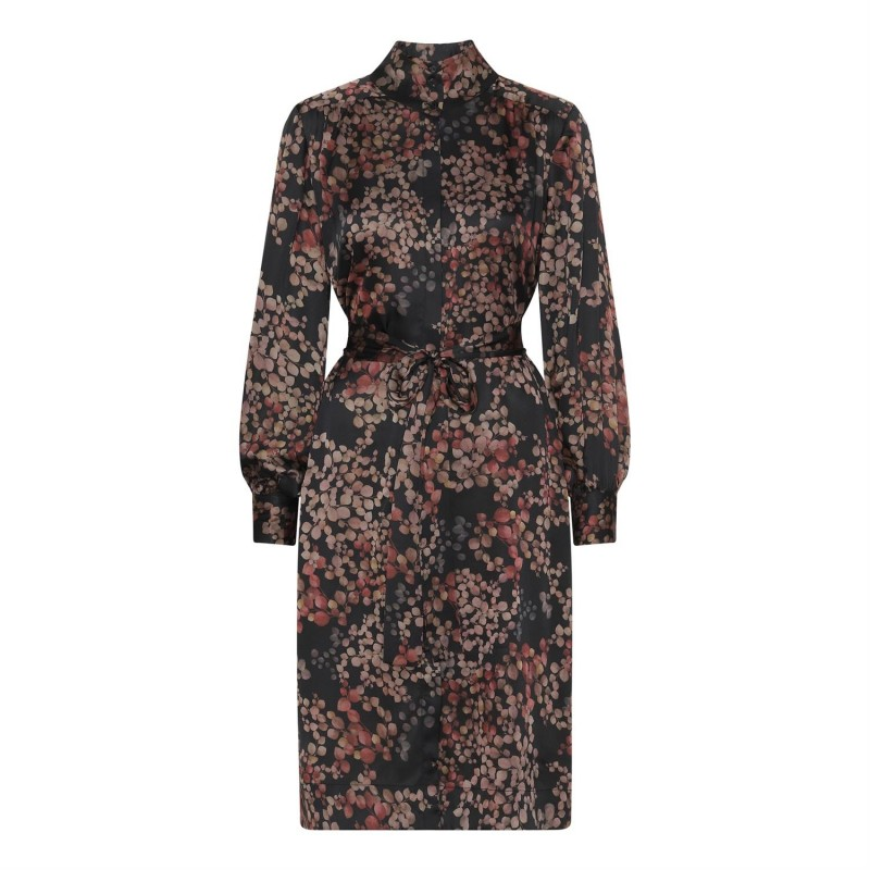 Noelle Dress - Melange Black - Karmamia