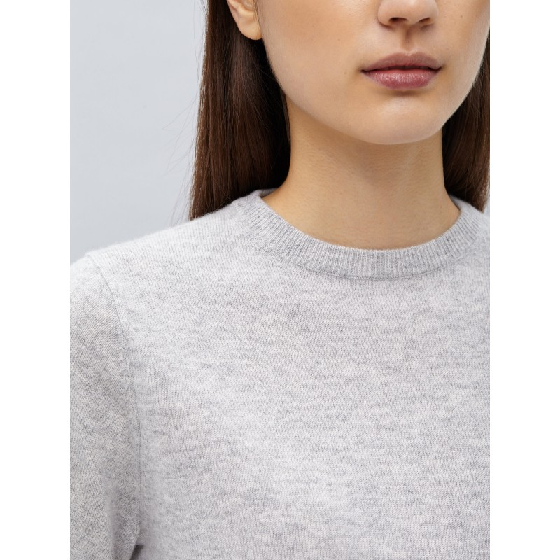 Womens Roundneck - ash grey fra Peoples Republic of cashmere