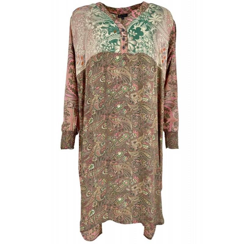 Luna Long Kaftan Shirt - Rose