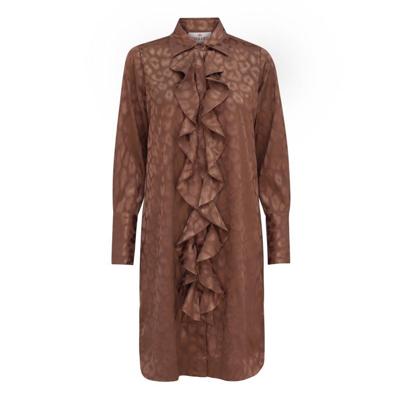 Ruffle Kimono (short) – Bronze Leo Jacquard