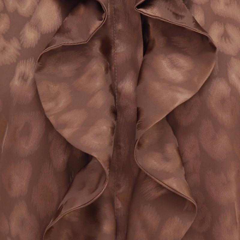 Ruffle Kimono (short) – Bronze Leo Jacquard Karmamia