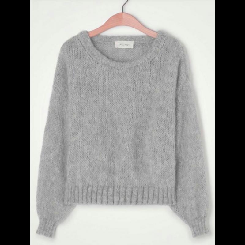 Vogbay Cropped Knit VOG18A-grey fra American Vintage