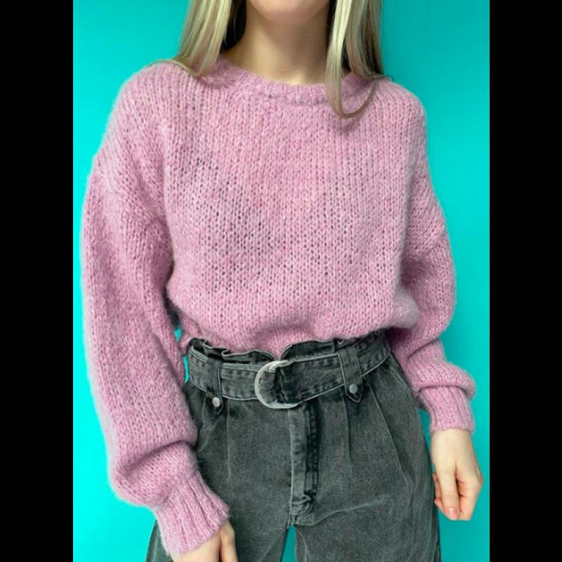 Vogbay Cropped Knit VOG18A-Sloe Melange fra American Vintage