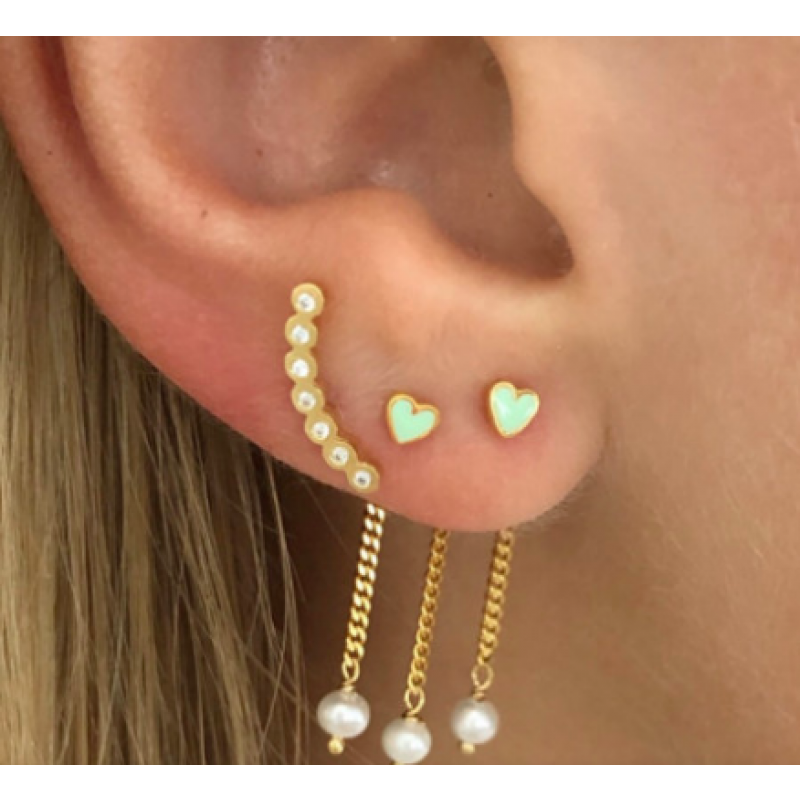 SEVEN DOTS EARRING PIECE RIGHT GOLD STINE A