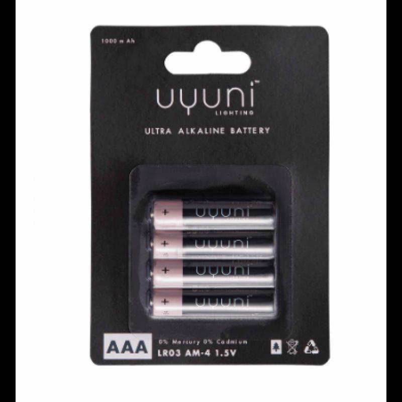 Alkaline Batteries AAA, 1,5V, 1000mAh – 4 pack