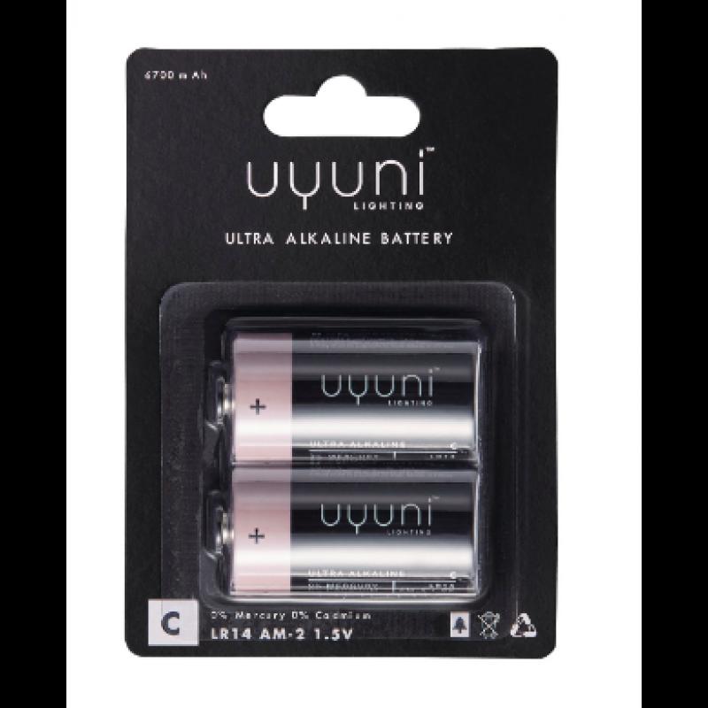 Alkaline Batteries C, 1,5V, 6700 mAh – 2 pack