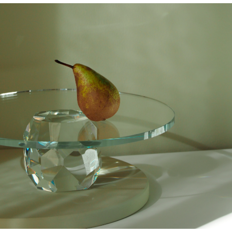 Storm Cake Stand - Clear spectrum - kagefad