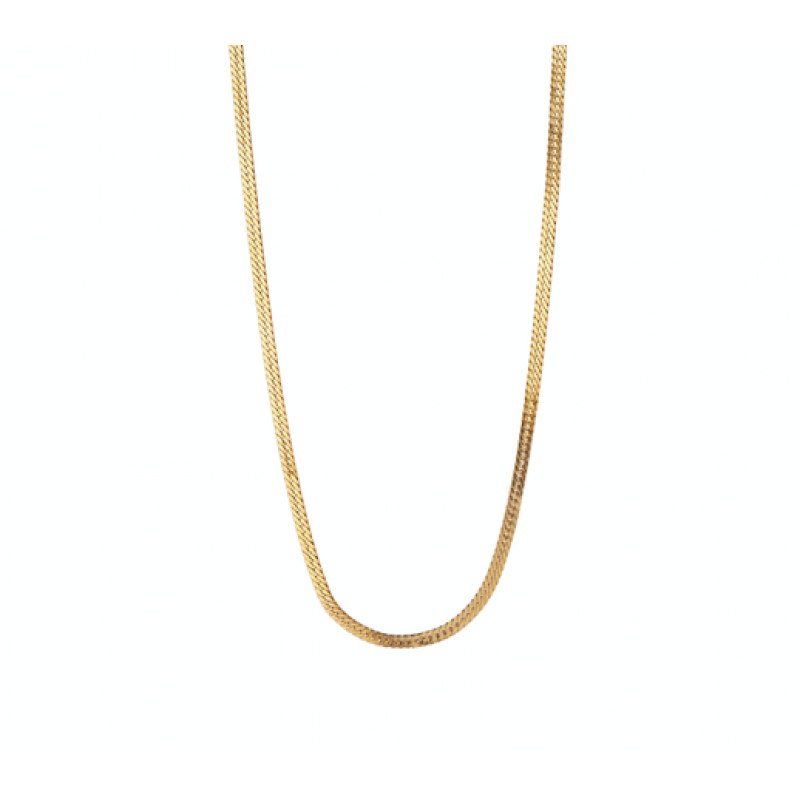 SHORT SNAKE NECKLACE GOLD