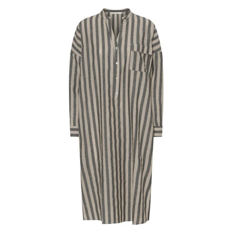 Oats Dress Linen Stripe