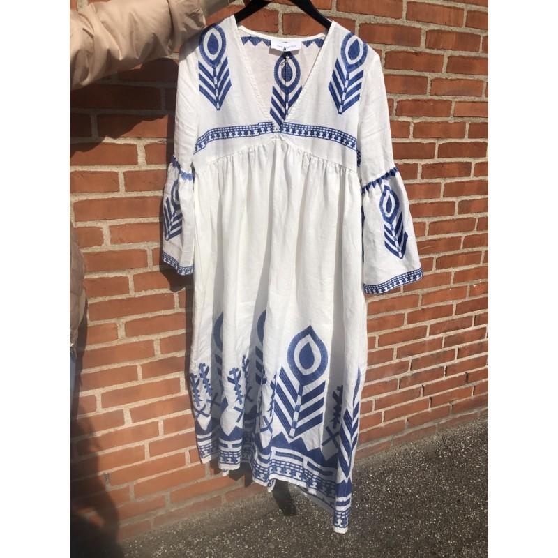 Kori Dress White/blue
