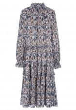 VIOLA Maxi Dress - Trellis Blue Dea Kudibal