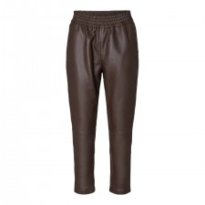 Shiloh Crop Leather Pant - 83 Brun - Co'Couture