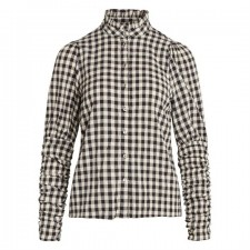 Cadie Check Puff ShirtCo'Couture