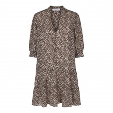 Breeze Flower Button Dress - Black co'Couture