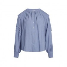 Cora Pleat Shirt Sky Blue Co'Couture