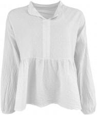 Frigg Cotton Blouse - White Black Colour
