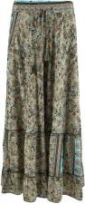 Luna maxi frill skirt - Misty Desert - Black Colour