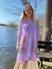 San Miguel Audrey Lilac Dress - One Season