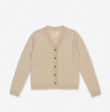 Women V-Cardigan - Oatmilk - Peoples Republic of Cashmere