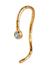WAVY ONE DOT OPEN CREOL GOLD WITH STONE - BLUE STINE A