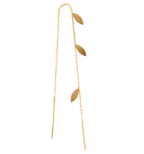 THREE LEAVES EARRING PIECE GOLD STINE A