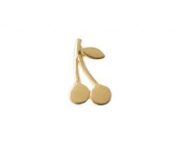 PETIT CHERRY EARRING GOLD STINE A