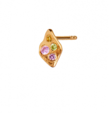 PETIT ILE DE L'AMOUR WITH STONES EARRING GOLD - LIGHT PINK SORBET STINE A