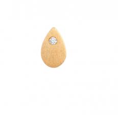 PETIT SPARKLING TEARDROP W/ZIRCON EARRING GOLD STINE A