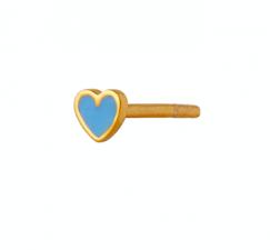 PETIT LOVE HEART LIGHT BLUE ENAMEL GOLD Stine A
