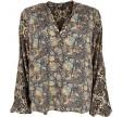 Luna kaftan blouse - black multi