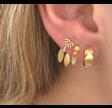 DANCING THREE LEAVES BEHIND EAR - GOLD