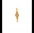 PETIT BON-BON WHITE ZIRCON EARRING PIECE GOLD